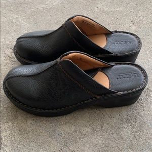 BORN leather clogs!!!!
